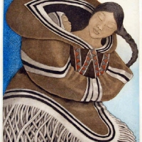 Germaine Arnaktauyok, Mother and Child, 2009