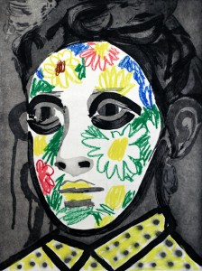 Face Paint by Erik Olson, State Proof 1/5, 2016