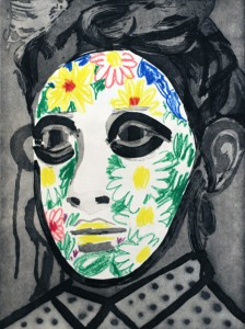 Face Paint by Erik Olson, State Proof 2/5, 2016