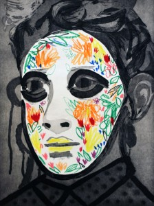 Face Paint by Erik Olson, State Proof 3/5, 2016