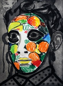 Face Paint by Erik Olson, State Proof 4/5, 2016